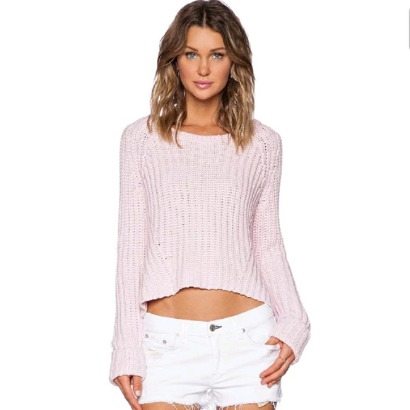 Ride Knit Sweater in Pink. - size M (also in S,XS) Finders Keepers